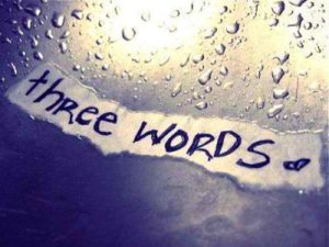My Three Words